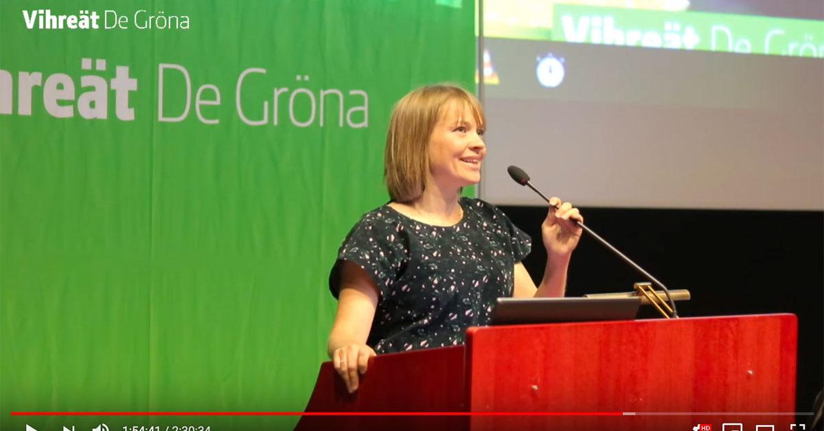 Puheenvuoro maataloudesta Vihreiden puoluevaltuuskunnassa 8.9.2019